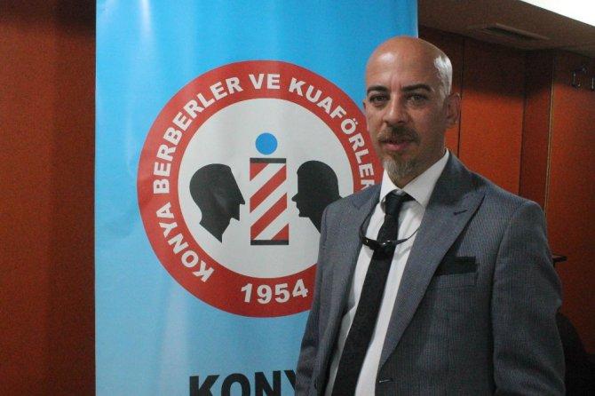 Konya'daki berberlere saç kesimi ve renklendirme eğitimi