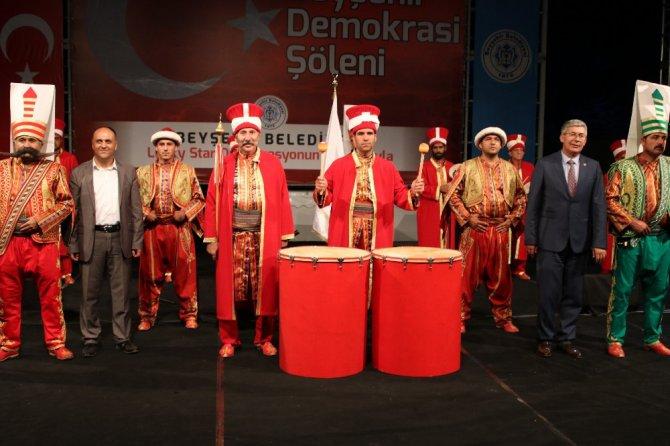 Beyşehir Belediyesi'nden şehit aileleri ve gazilere 'Mehteran' jesti