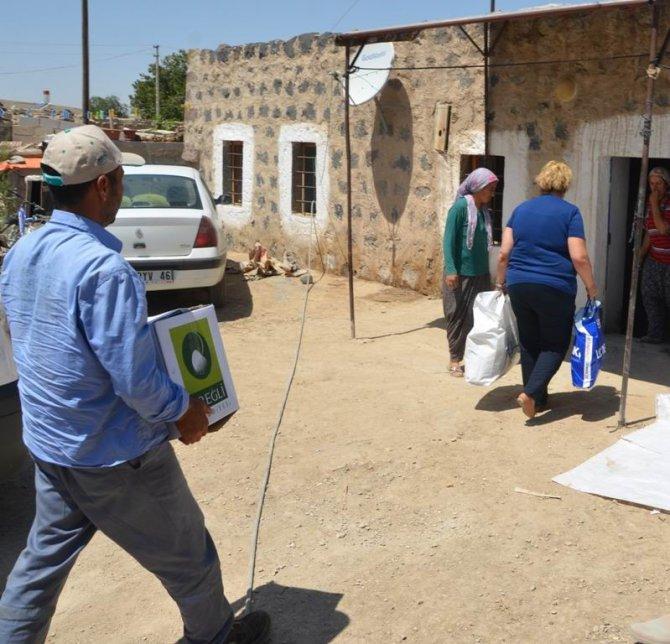 Ereğli Belediyesinden selden zarar vatandaşa yardım eli