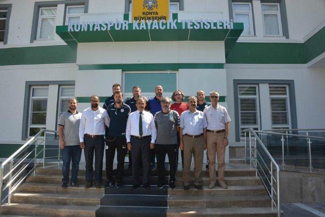 Rektör Şahin'den, Atiker Konyaspor'a tebrik ziyareti