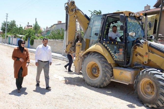 Meram'da hastane yolları düzenleniyor