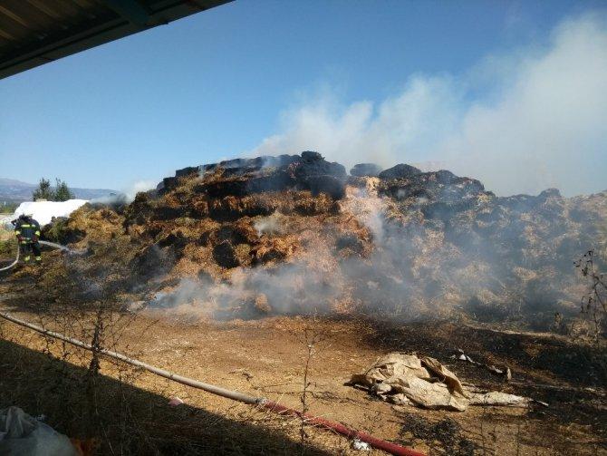 Konya'da 2 bin adet saman balyası yandı
