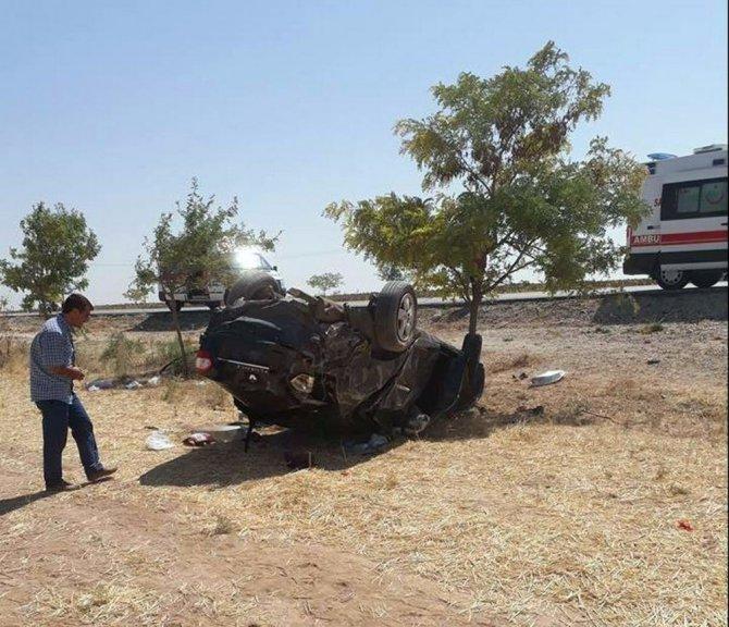 Konya'da otomobil şarampole yuvarlandı: 1 ölü, 2 yaralı