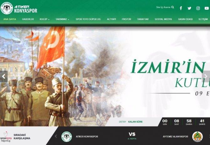Atiker Konyaspor'dan 'İzmir' kutlaması
