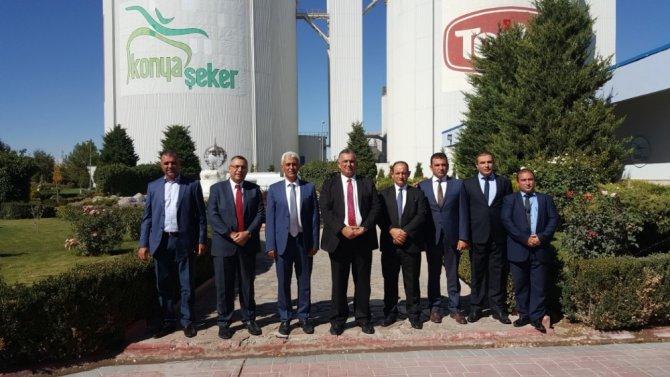 KKTC Tarım Bakanı Nazım Çavuşoğlu, Konya Şeker'i ziyaret etti