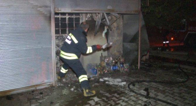Konya'da büfe yangını
