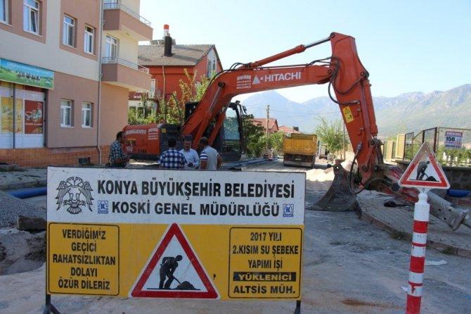 Seydişehir'de içme suyu şebeke hatları yenileniyor