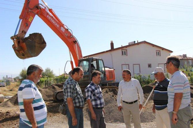 Seydişehir'de kanalizasyon yenileme çalışması