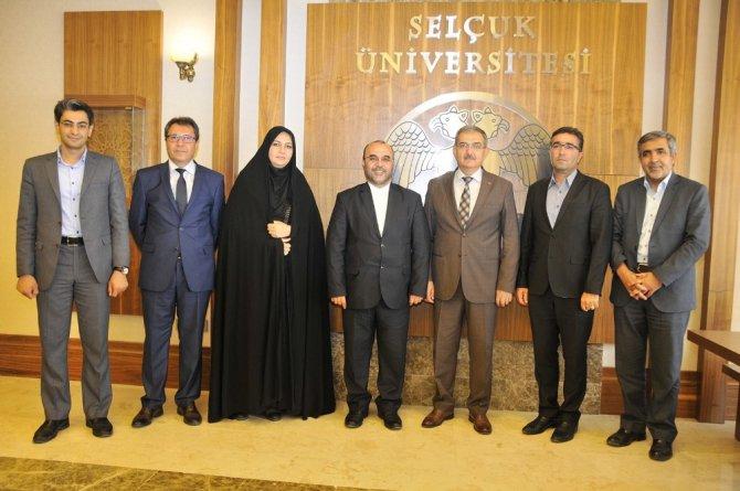 İran Kültür Müsteşarı'ndan Rektör Şahin'e ziyaret