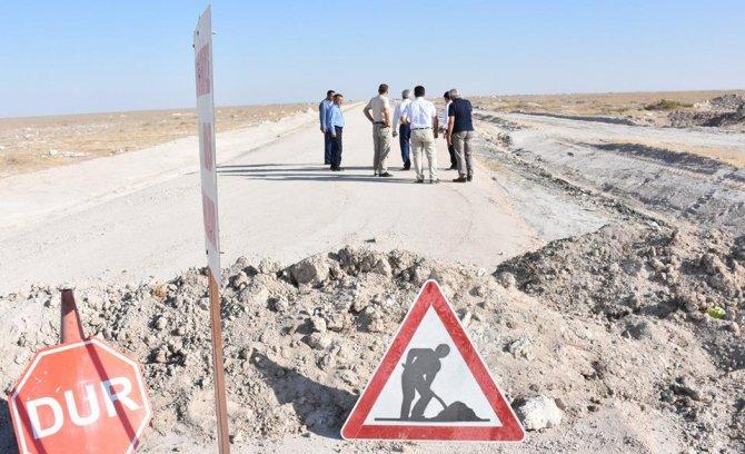 Aksaray İl Özel İdaresi Eskil'de incelemelerde bulundu