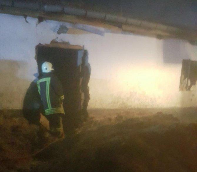 Kulu'da samanlıkta yangın