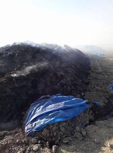 Kulu'da 80 römork saman yandı