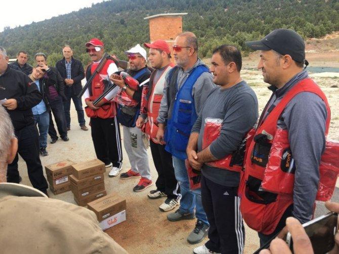 Beyşehir'de trap atış müsabakaları yapıldı