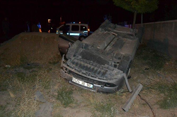 Kulu'da takla atan otomobildeki 4 kişi ölümden döndü