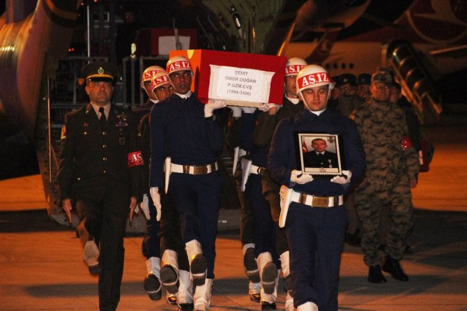 Karamanlı şehit asker Ömer Doğan'ın cenazesi Konya'ya getirildi