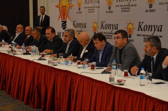 Ak Parti Konya İl Teşkilatı'ndan meslek odaları ve STK buluşmaları