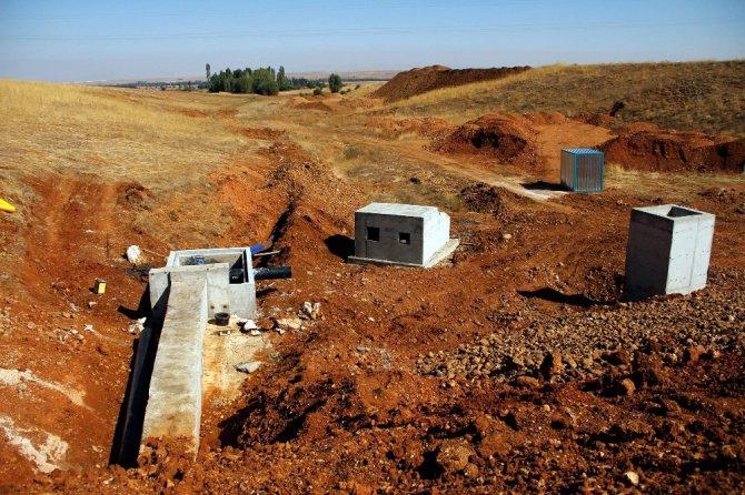 Doğanhisar'da sulama yatırımları hızlandı