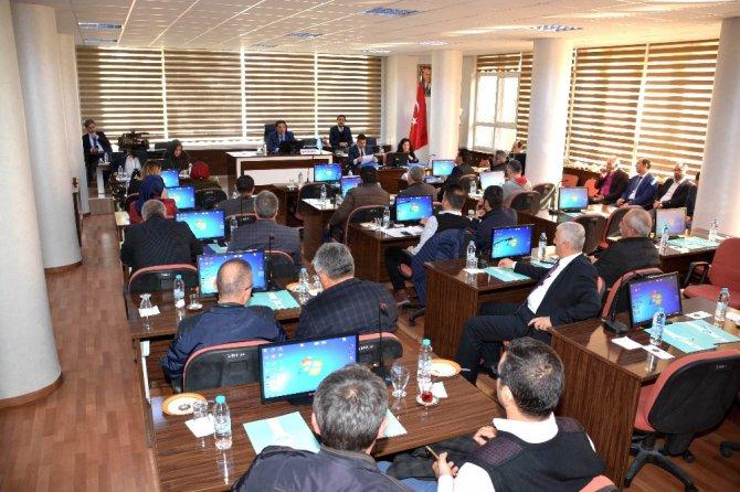 Aksaray Belediyesi 2018 yılı bütçesi belediye meclisinde kabul edildi