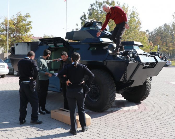Aksaray Emniyetine dragon panzer desteği