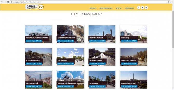 Konya Büyükşehir'in Canlı Yayın Kameralarına Büyük İlgi