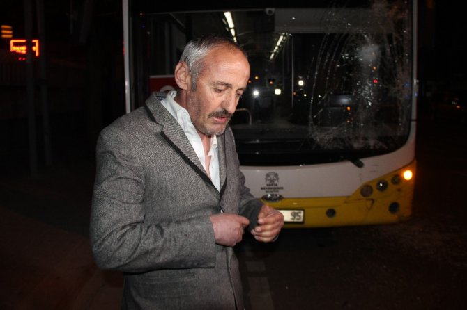 Alkollü sürücü, belediye otobüsüne ateş edip şoförünü darp etti