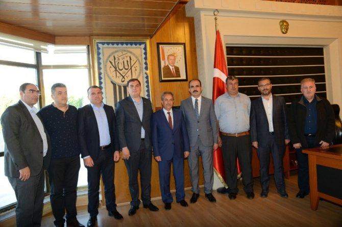 Akşehir heyetinden Başkan Altay'a ziyaret