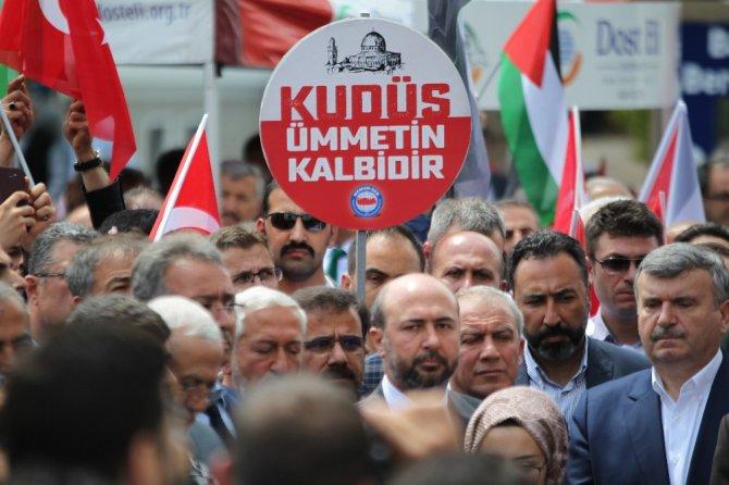 Konya'da İsrail ve ABD protesto edildi