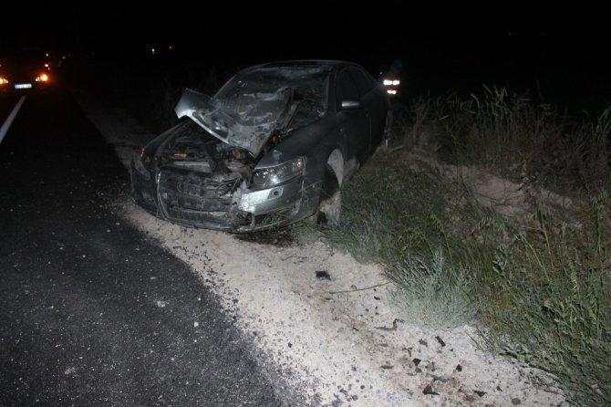 Aksaray'da otomobil motosiklete çarptı: 2 ölü, 4 yaralı