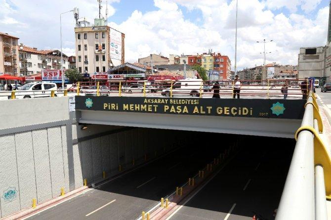 Aksaray'da Piri Mehmet Paşa Alt Geçidi hizmete açıldı