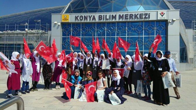 Terör mağduru öğrenciler Konya'yı gezdi