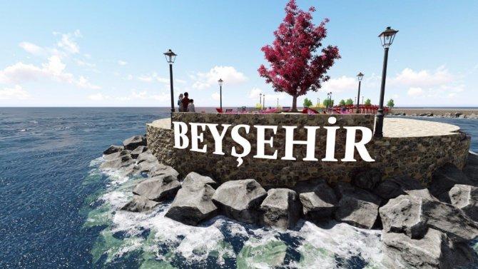 Beyşehir'de sahil bandına bisiklet ve yürüyüş yolu