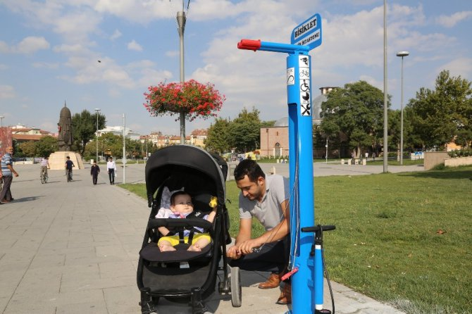 Büyükşehir'den 26 noktaya bisiklet tamir istasyonu