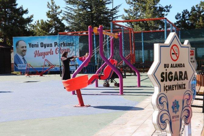Beyşehir'de parklar dumansız hava sahası haline geldi