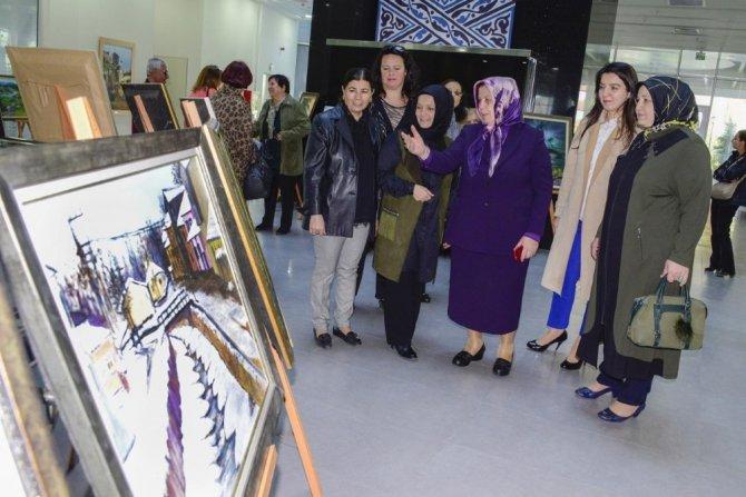 Meram Belediyesinde yağlı boya resim sergisi açıldı