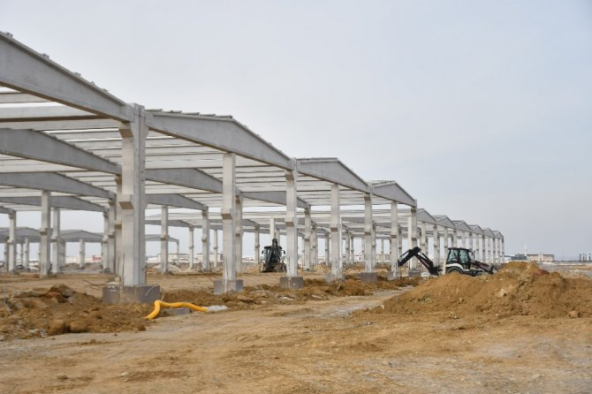 Aksaray'da Yeni Sanayi Projesinde kaba inşaat tamamlanmak üzere