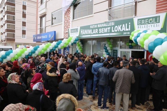 Ereğli'de hanımlar için yeni semt lokali açıldı