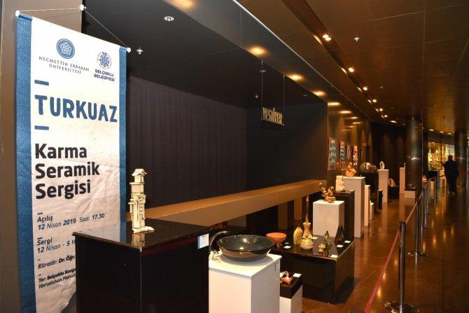 """Konya'da """"Turkuaz"""" Karma Seramik Sergisi açıldı"""