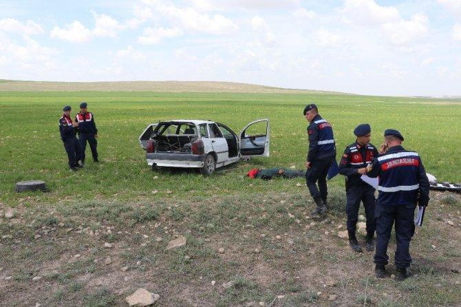 Aksaray'da otomobil takla attı: 1 ölü, 5 yaralı