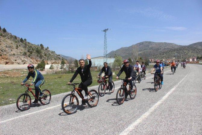 Derebucak'ta bisikletle harekete geçiyoruz etkinliği
