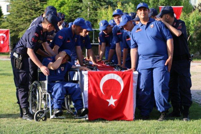 Konya'da engellilerin askerlik heyecanı