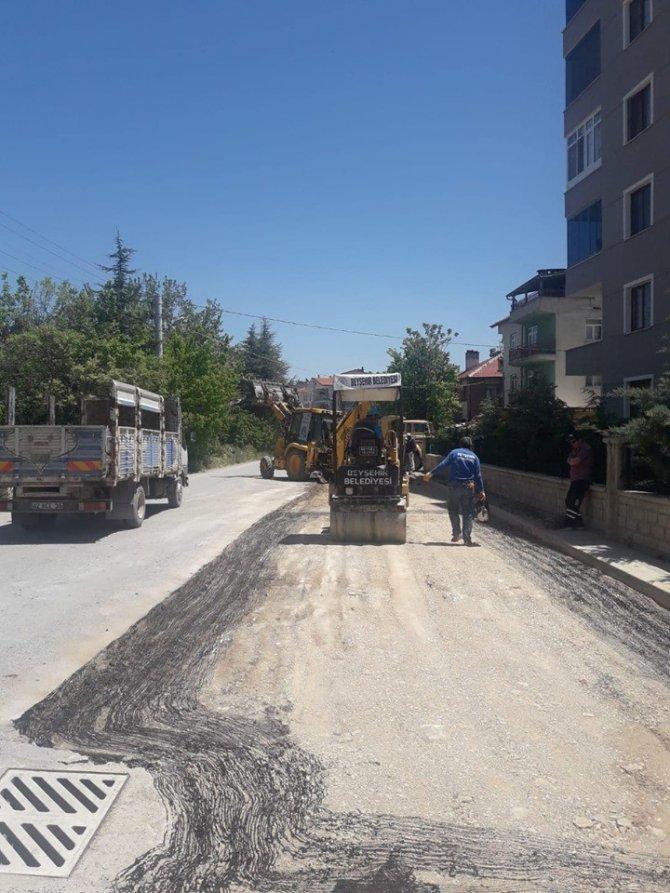 Beyşehir'de yollar iyileştiriliyor