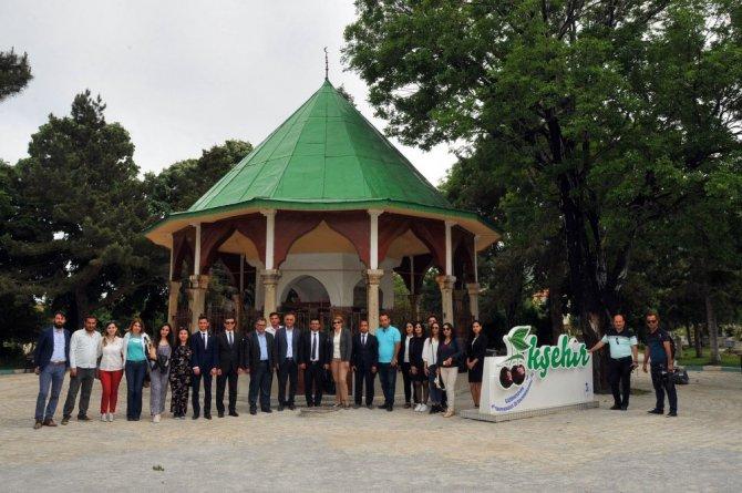 Azerbaycan heyeti Akşehir'i gezdi