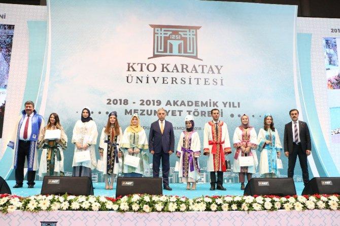 KTO Karatay Üniversitesinde mezuniyet coşkusu