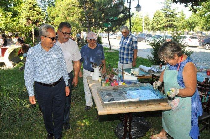 Akşehir Gülmece Parkı, sanat atölyesine dönüştü
