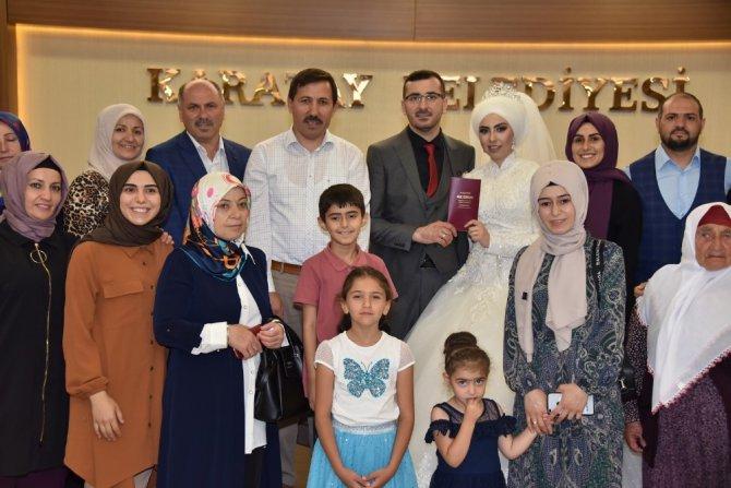 Başkan Kılca'dan evlenecek çiftlere nikah sürprizi