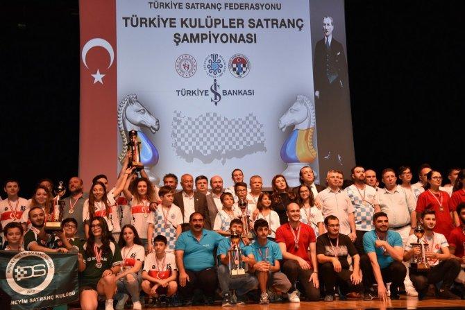 Türkiye Kulüpler Satranç Şampiyonası Finallerinin ödül töreni yapıldı