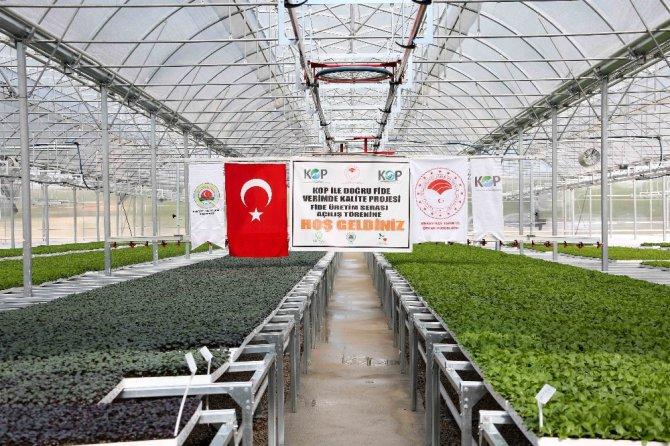Konya'nın ilk 'Fide Üretim Tesisi' Meram'da açıldı