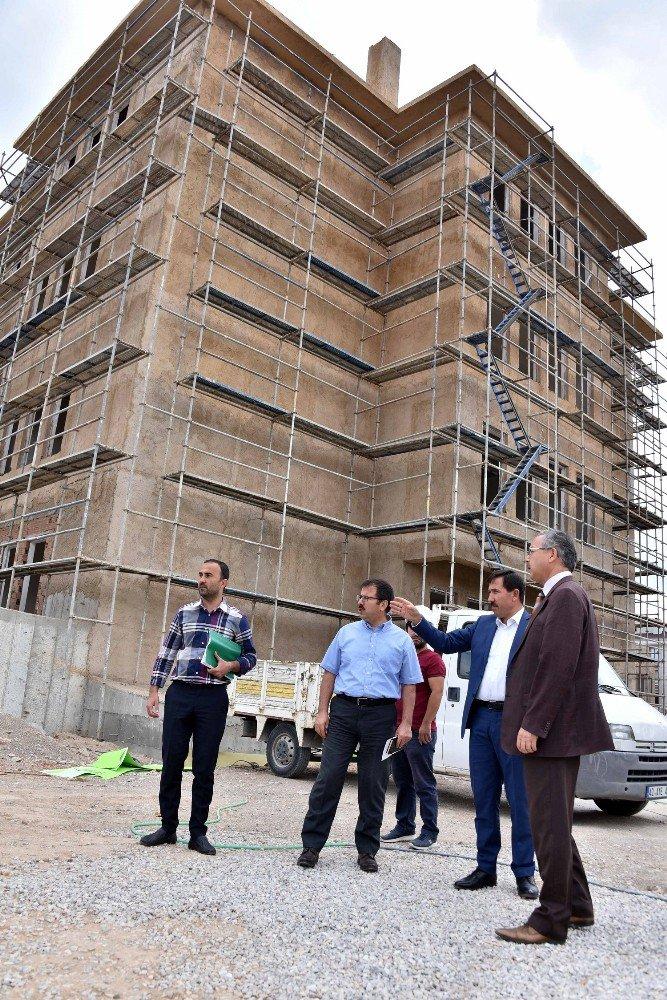 Başkan Kılca, Hamzaoğlu Mahallesindeki okul inşaatını inceledi