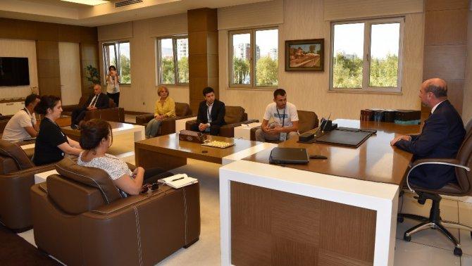 Özbekistan Heyeti'nden Selçuklu Belediyesine ziyaret