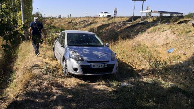 Aksaray'da otomobil şarampole düştü: 1 yaralı